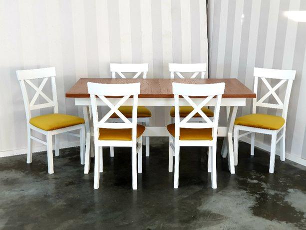 Stół prowansalski biały 140x90 rozkładany do 210 krzyż