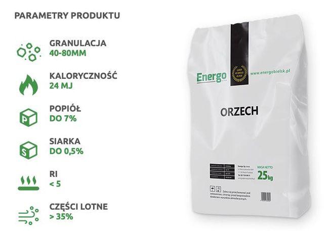 Węgiel kamienny Energo ORZECH standard 24 MJ/kg workowany - paleta