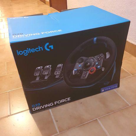 Volante Logitech G29 compatível PC/PS4/PS3