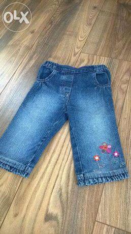 Spodnie jeansy dżinsy rozmiar 6-9 miesięcy 68/74