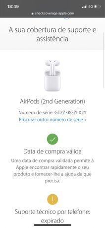 Airpods 2a geração carregamento wireless