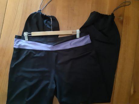 Świetne spodnie fit & sport elastic black r XXL i 16 - 18 Plus Size