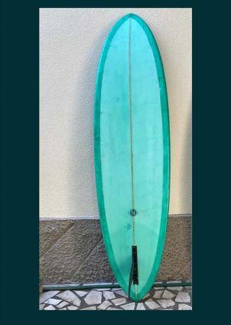 6.8 Funboard prancha de surf Malibu  Evolution deck fins rental