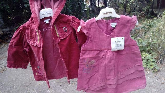 Куртка ветровка вельветовая 24 мес