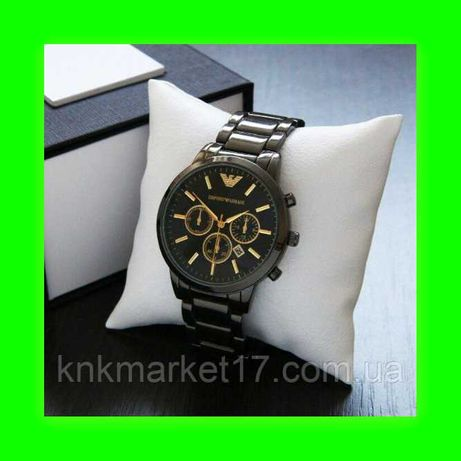 Часы Emporio Armani QQ All Black / металлический часы Emporio
