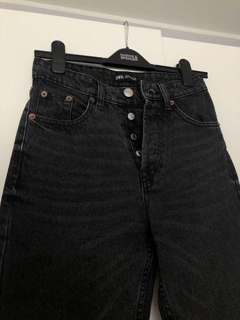 Mom jeans czarne XS
