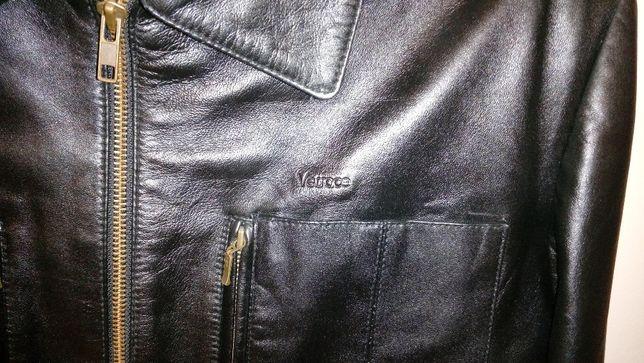 куртка мужская кожаная лайка VERSACE в идеальном состоянии, 100% КОЖА
