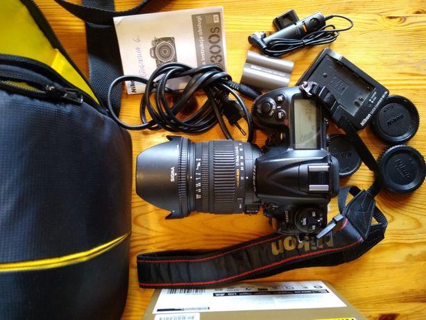 Nikon D300S + Sigma DC 17-70 1:2,8-4.5 I bogaty zestaw dodatków