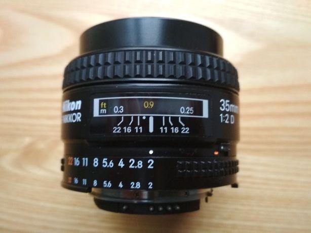 Obiektyw Nikkor Nikon 35mm 2.0D 2D pełna klatka