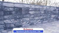 Betonowe ogrodzenie gładkie (modułowe)FINI-Styrobud nowoczesne OD RĘKI