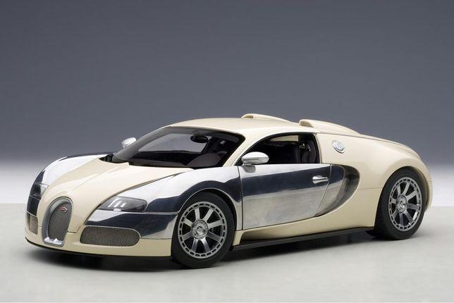 Акция! 1/18 модель Bugatti Veyron L'Edition beige / chrome AUTOart