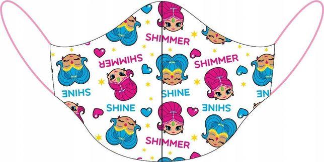 Maseczka dla dzieci SHIMMER & SHINE do szkoły bawełniana profilowana