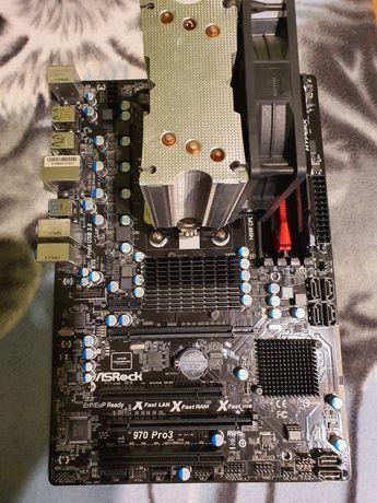 AsRock 970 pro3 + AMD FX8350 + 2x8GB DDR3 HyperX