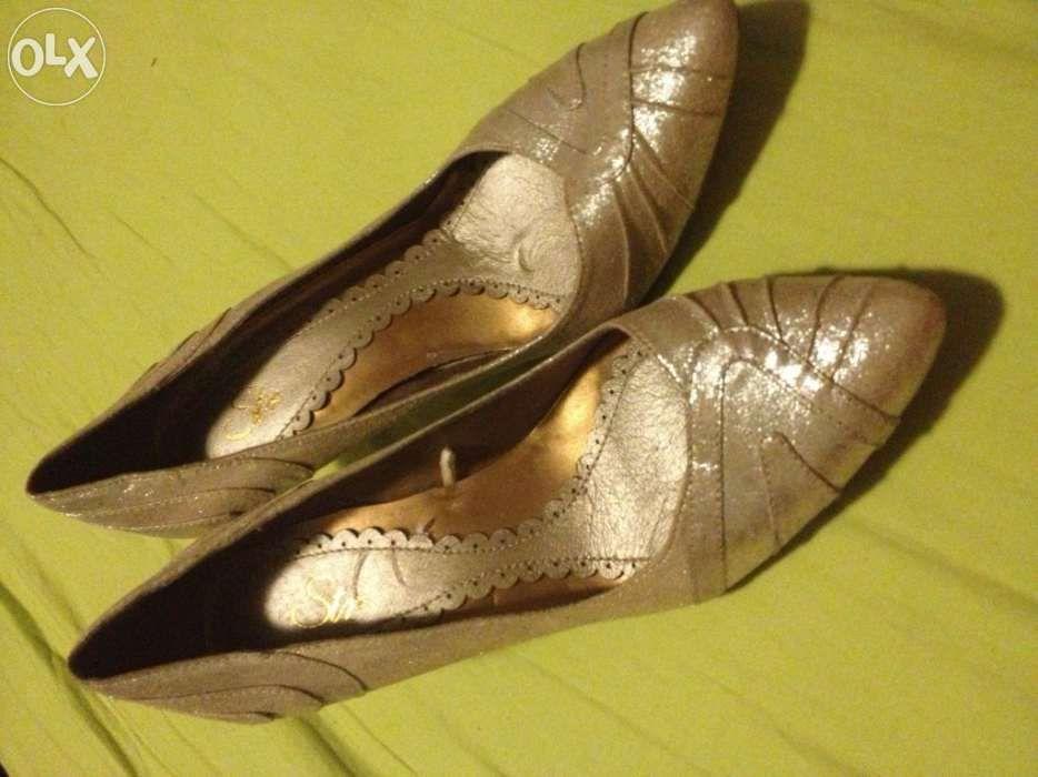Sapatos prateados stradivarius37 Beja (Salvador E Santa Maria Da Feira) - imagem 1
