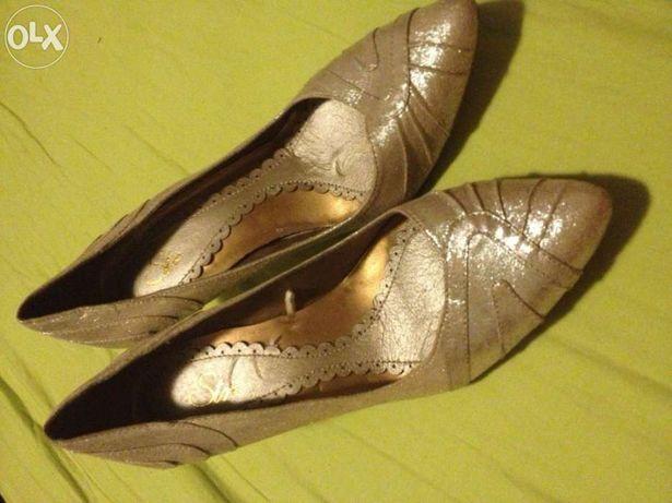 Sapatos prateados stradivarius37