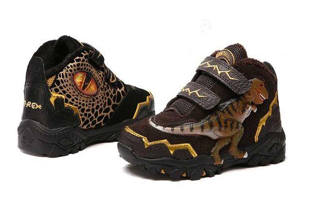 Утепленные высокие кроссовки в стиле дино, 27-17см