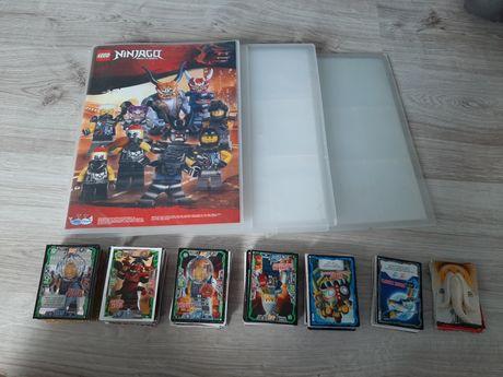 MEGA ZESTAW Karty lego ninjago ~ 300sztuk plus 3 albumy