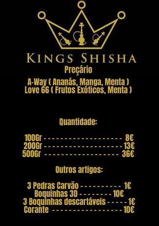 Kings Shisha Sabores/Bebidas e Outros