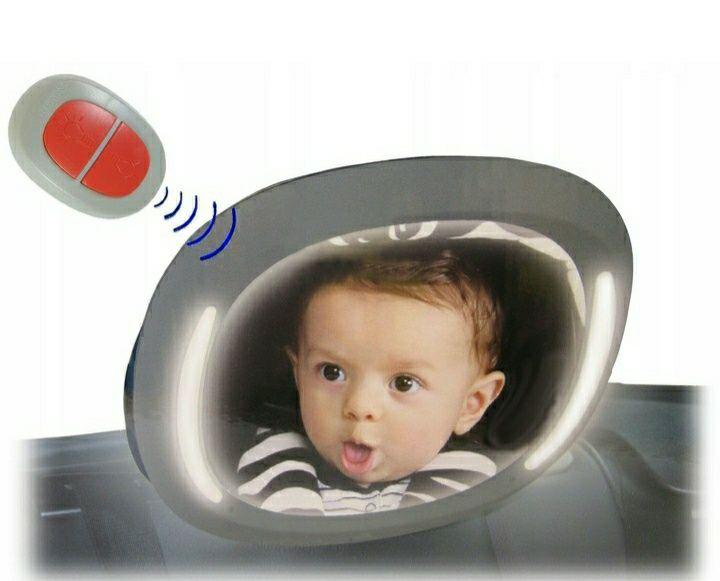 Lusterko LED Podświetlane z Pilotem Do Obserwacji Dziecka w Podróży Lubin - image 1