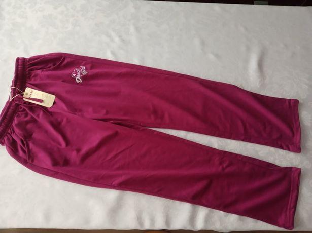 Spodnie dresowe dziewczęce - róż przechodzący w fuksję - nowe z metką.