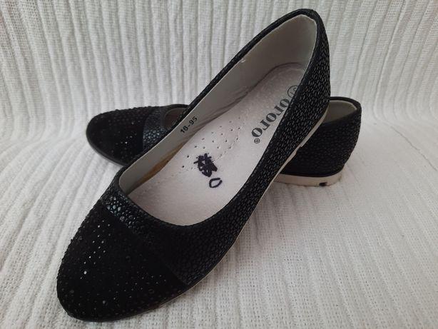 Туфли, балетки чёрные