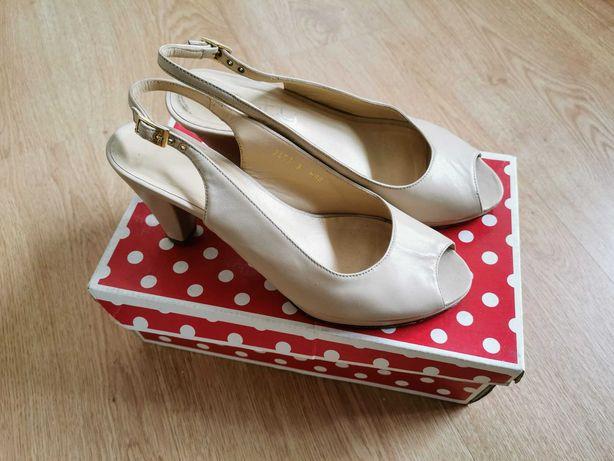 sapatos sandálias tacão pele genuína 36 VANNEL Haity