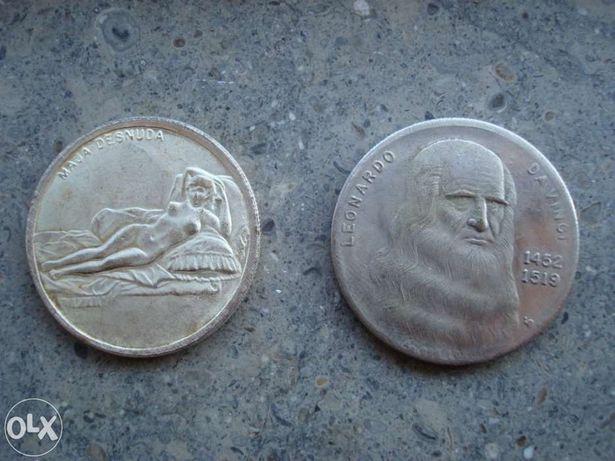 Medalha Italiana com banho em prata