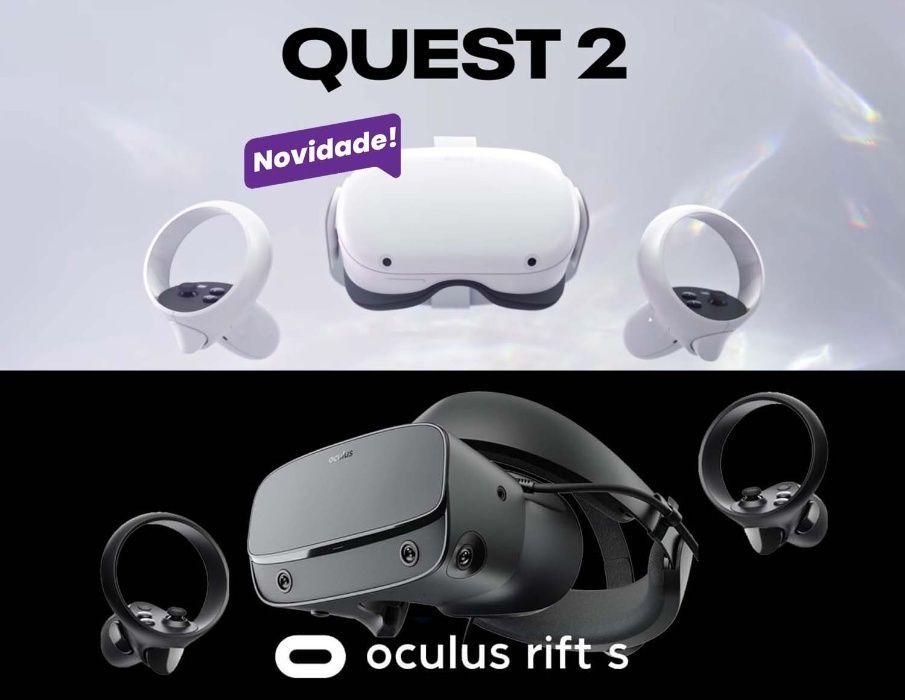 Óculos VR Realidade Virtual Oculus Rift S ou QUEST 2 NOVOS GARANTIA