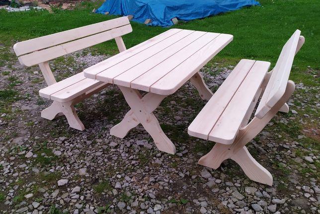 Drewniane meble ogrodowe stół ławki MODEL 2