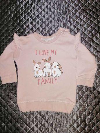 Bluza dla dziewczynki H&M Śliczna rozm. 74