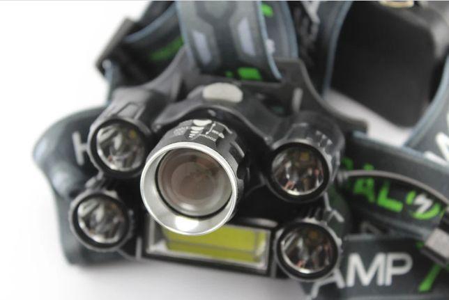 Налобный фонарь на 6 светодиодов X-BALOG T64. Аккумуляторный фонарик.