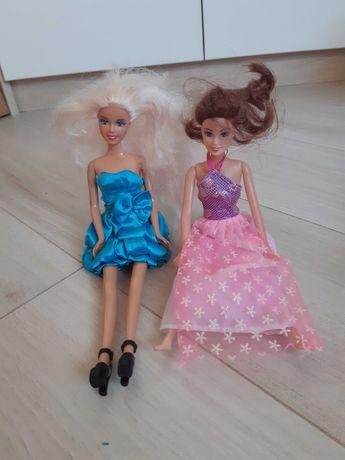 Lalka Barbie lalki w sukience brunetka blondynka