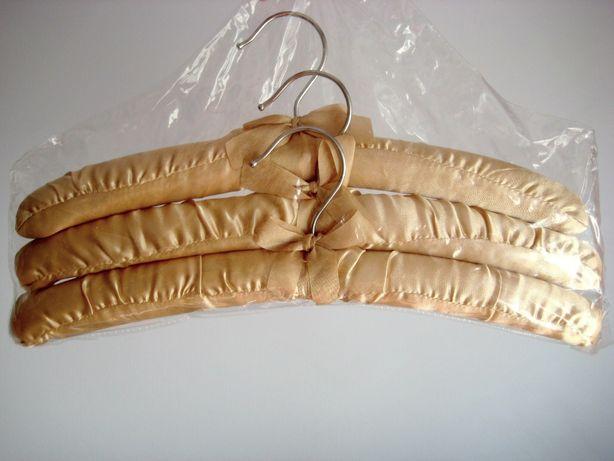ozdobne złote wieszaki glamour nowe 3 sztuki ślub dekoracje prezent