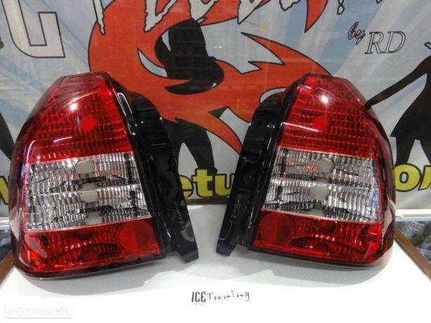 Farois Honda Civic EK, EJ 96-00 3 portas Vermelho/Cristal C/2 anos de gara