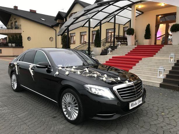 Mercedes S S-Klasa do ślubu wesela limuzyna auto ślub wesele W222