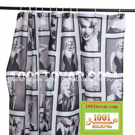 Тканевая шторка для ванной комнаты Мерлин Монроиз полиэстера, размер
