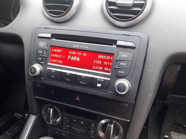 Oryginalne Radio CD Audi A3 8P z kodem
