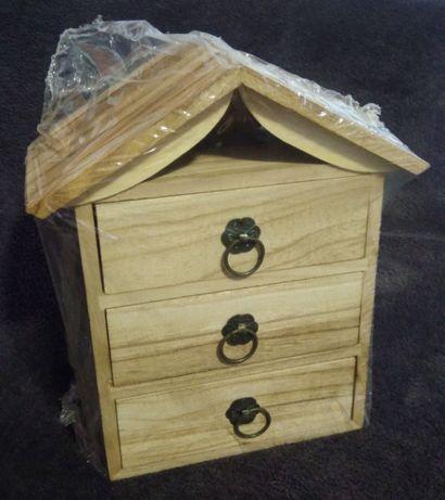 Caixinha madeira - Guarda joias