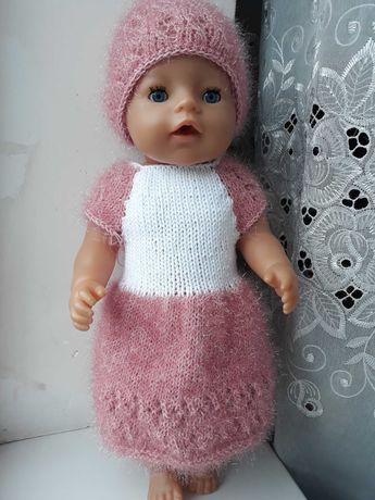 Вязаная одежда для куклы беби борн