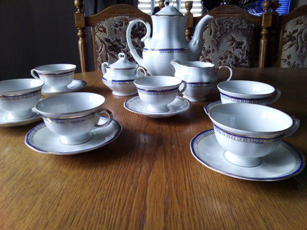 Piękny serwis do kawy porcelana KAROLINA z lat 50-tych - 6 osób