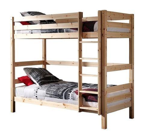 Sprzedam łóżko piętrowe 90/200 Sosnowe + Materace
