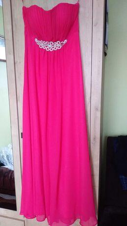 Sukienka długa kol. malinowy r.40