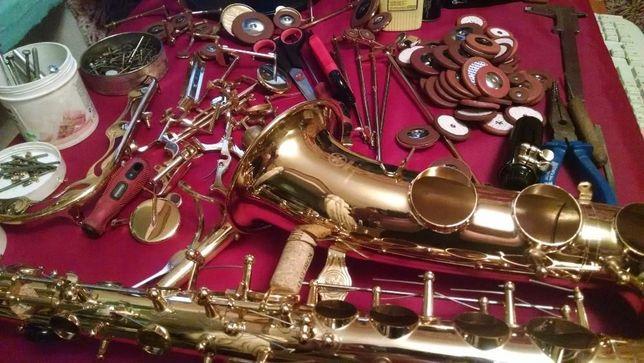 Ремонт саксофона, кларнета