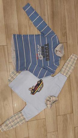 Bluzka koszula tshert roz 128