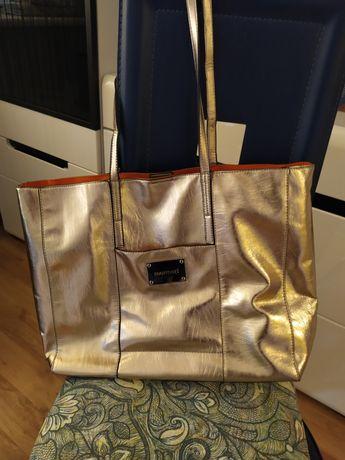 Nowa złota torebka monnari shopper bag