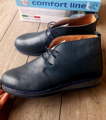 Італійські фабричні черевикі ботинкі натуральна шкіра 41 -43р 1250 грн