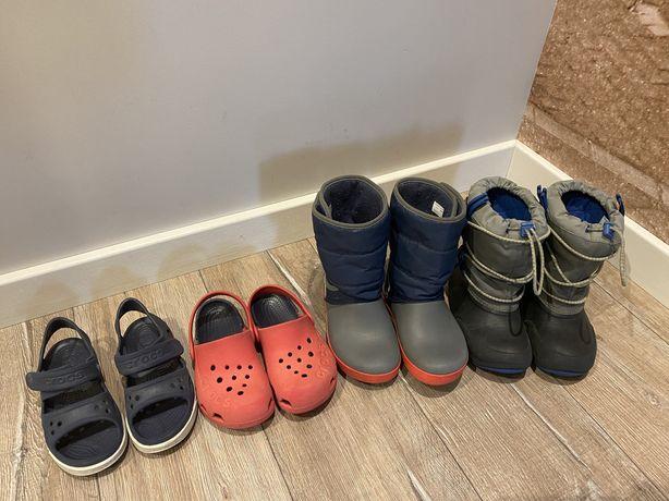 бу зимние сапоги Crocs C12 сабо, сандали, босоножки