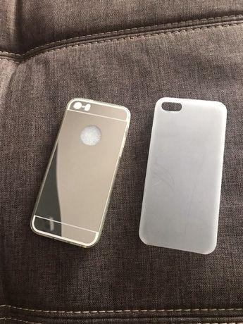 2x etui pokrowiec na iPhone nowe lusterko bezbarwny