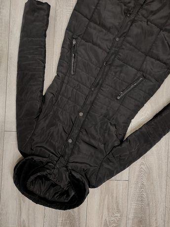 БЕСПЛАТНАЯ доставка Пуховик ВЕСНА Стеганное  пальто. Удлинённая куртка