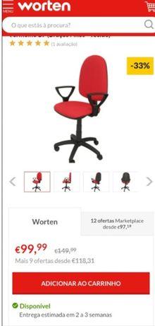 Cadeira Ergonómica Operativa  (Nova)
